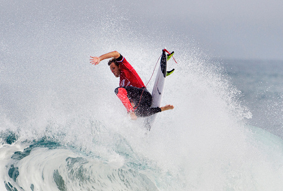 Kai Otton: a new surf trick is in the making