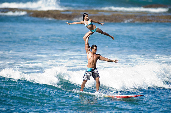 Kalani Vierra: tandem surfing is like dancing