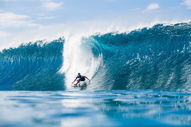 Kanoa Igarashi: getting ready for tube time at Pipeline | Photo: WSL