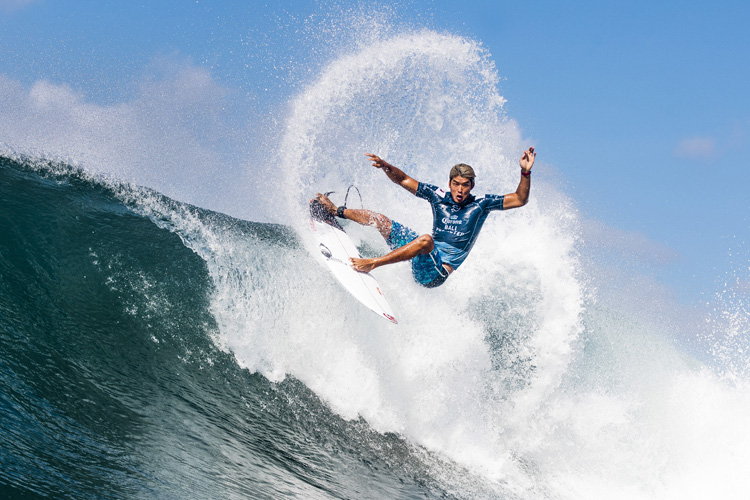 Kanoa Igarashi: he won the first World Surf League Championship Tour title for Japan | Photo: Dunbar/WSL