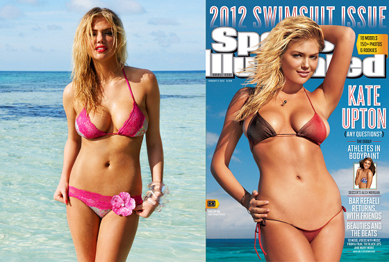 Kate Upton: ready for surfing and in the cover of the Sports Illustrated Swimsuit 2012