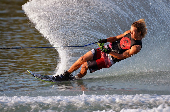 KC Wilson: taking Florida to victory in Men's Slalom