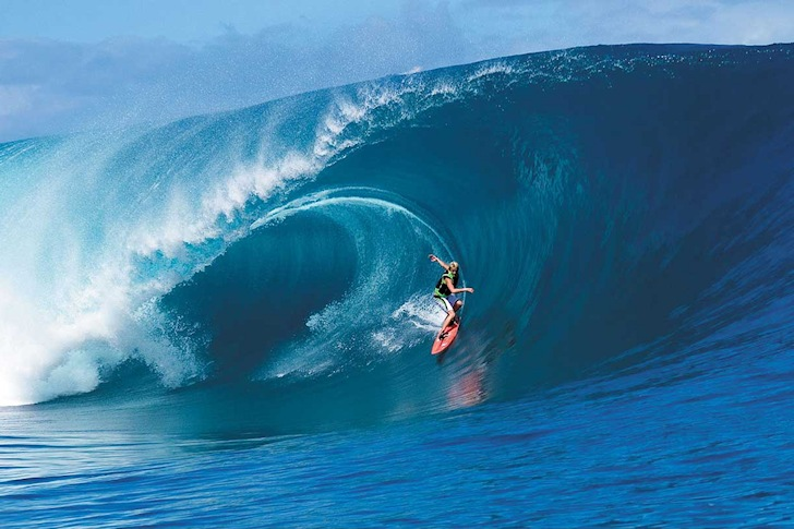 Keala Kennelly: no fear of Teahupoo