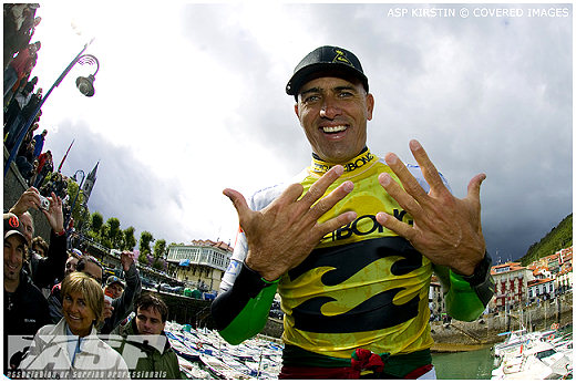 Kelly Slater, 9 times ASP World Champion