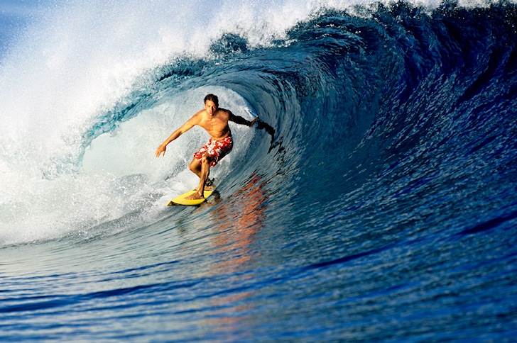 Kelly Slater: getting barreled in 1996 | Photo: Quiksilver
