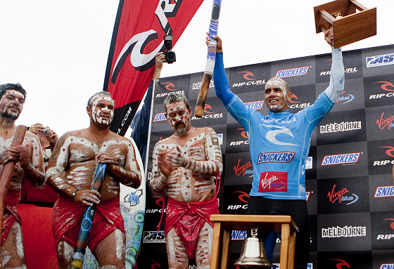 Kelly Slater: painted in blue