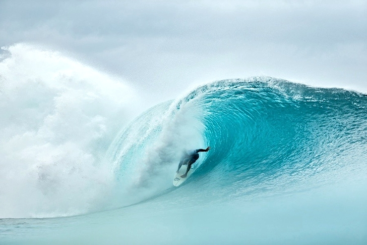 Kelly Slater: blinded by the spray | Photo: ASP/Cestari