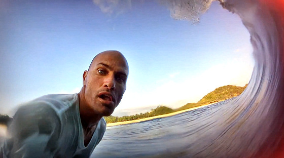 Kelly Slater: addicted to the GoPro mirror feature