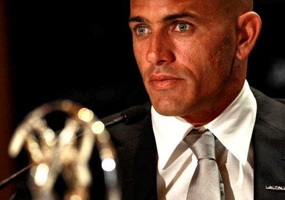 Kelly Slater: trying to remember where did he put the other three Laureus trophies