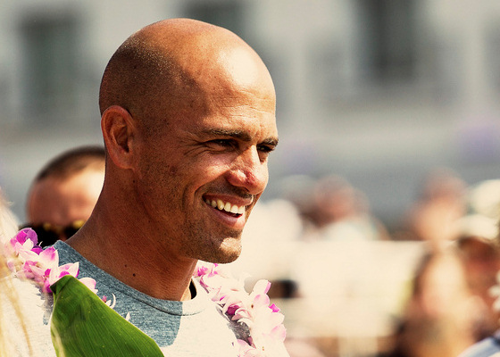 Kelly Slater: smile, you're in NY