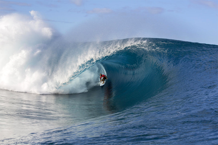Teahupoo: one of the deadliest waves on the planet | Photo: Kirstin/WSL
