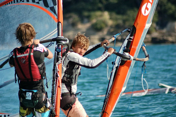 Kendall Cup: tight windsurf races | Photo: RS:X and Techno NZ