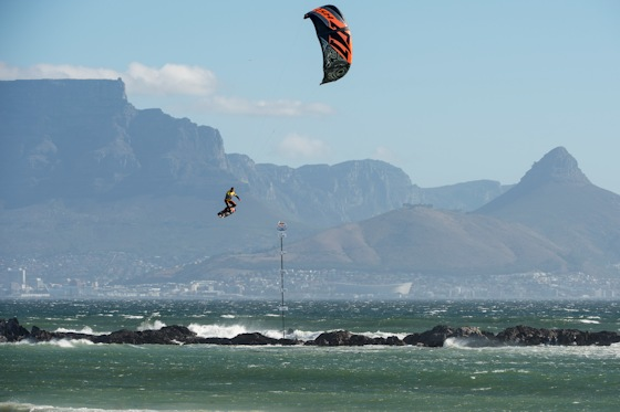 Kevin Langeree: frequent flyer in Cape Town's Big Bay