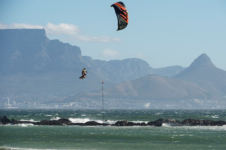 Kevin Langeree: a frequent flyer in Cape Town's Big Bay