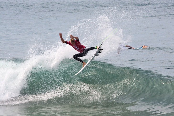 Kevin Schulz: hitting the air for San Clemente: Photo: Oakley Surf Team Challenge/O'Brien