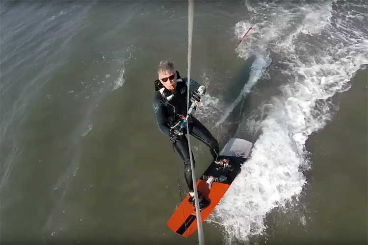 King Philippe of Belgium goes kitesurfing