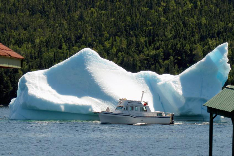 King's Point, Newfoundland: icebergs are breaking during summer | Photo: King's Point Pottery