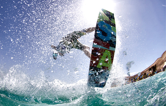 Kiteboarding: made of kites, boards and wind