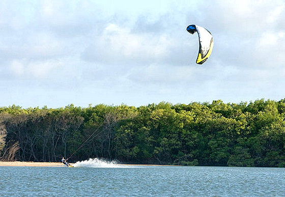 China: kiteboarding is getting popular here