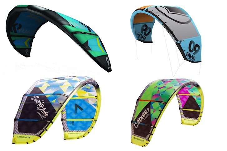 Kiteboarding kites: safe and durable