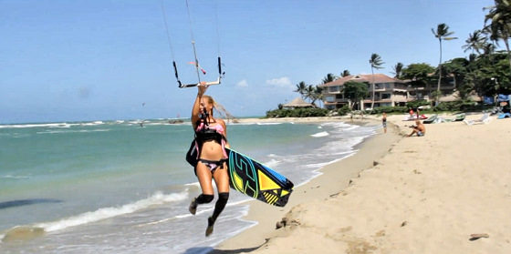Kiteboarding in Cabarete: sexy lingerie is the new wetsuit