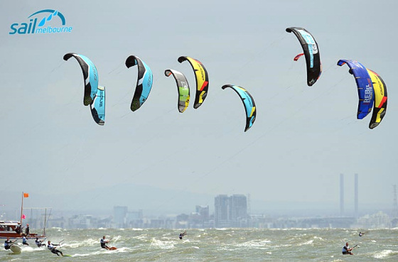 Sail Melbourne: kiteboarders put out a great show