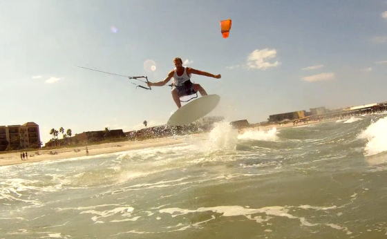Kite skimming: Dave Scott might have invented a new sport