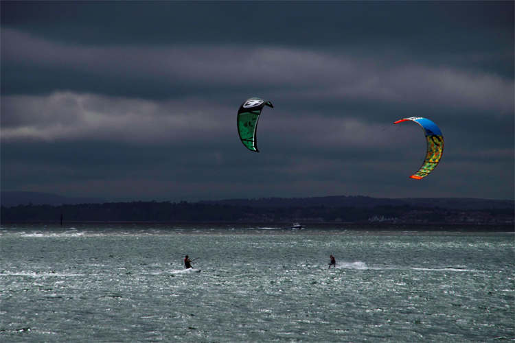 Hayling Island: the skies were grey, but the Virgin Kitesurfing Armada broke the Guinness World Record