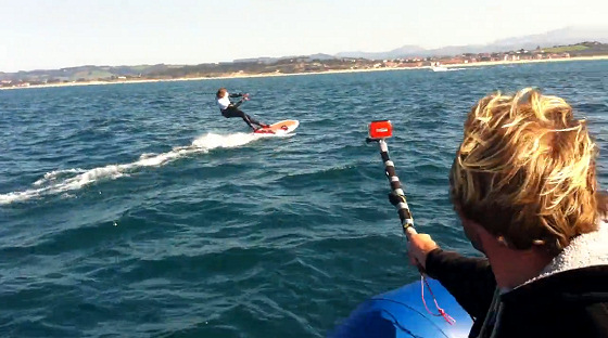 ISAF Kiteboarding Trials: riders were faster than support boats