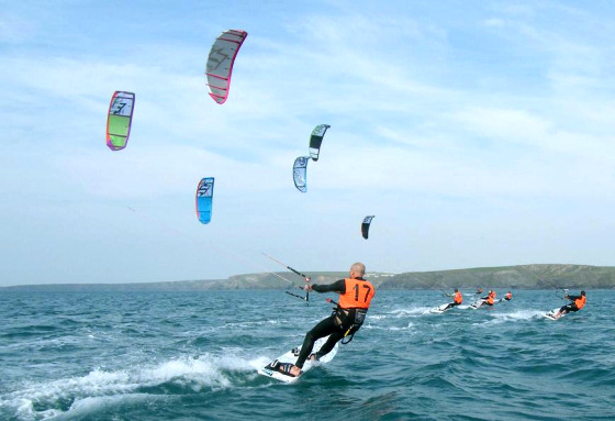 Watergate Bay: plenty of room for kiteboarding