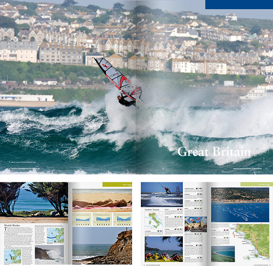 The Kite and Windsurfing Guide Europe: 464 pages and 2500 spots