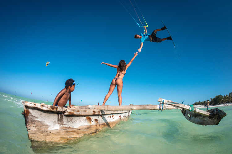 Zanzibar: Paula Novotna and Laci Kobulsky found heaven at Paje Beach | Photo: Kobulsky