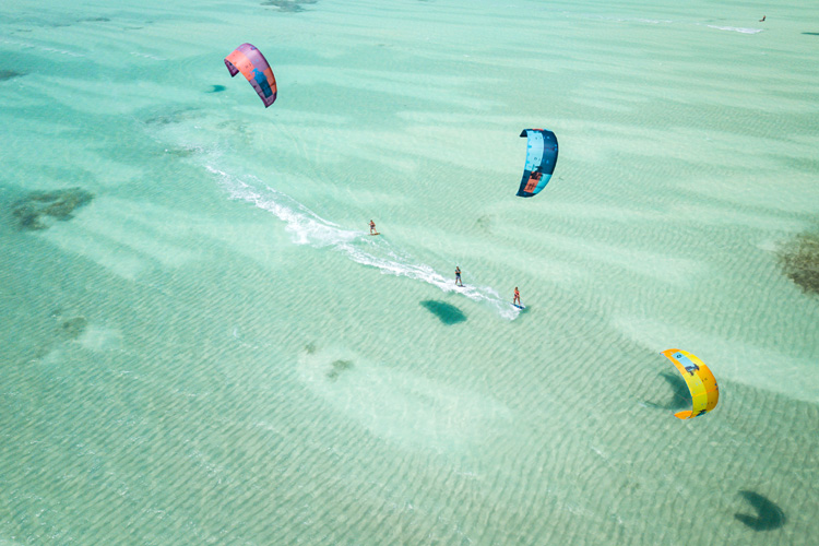 Zanzibar: white sand, crystal-blue waters and great winds for riding a kite | Photo: Laci Kobulsky