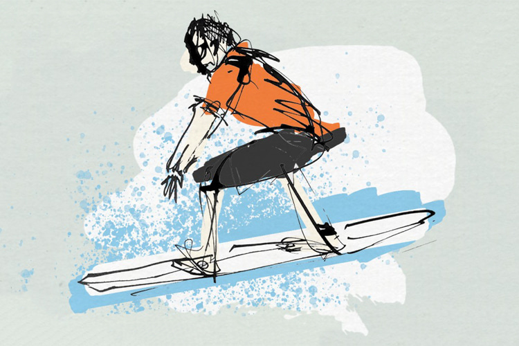 Surfing: a sport that forces us to focus on the present moment | Illustration: Anna Messechkova