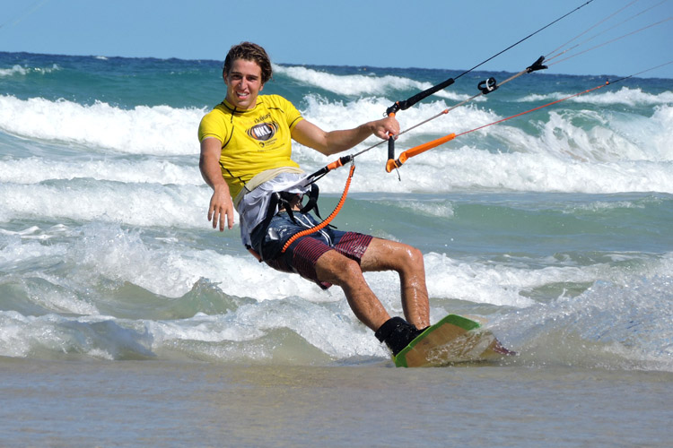 Kye Evans: the 2016/2017 National Kiteboarding League champion
