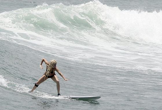 Lady Gaga: the karate-styled surfer