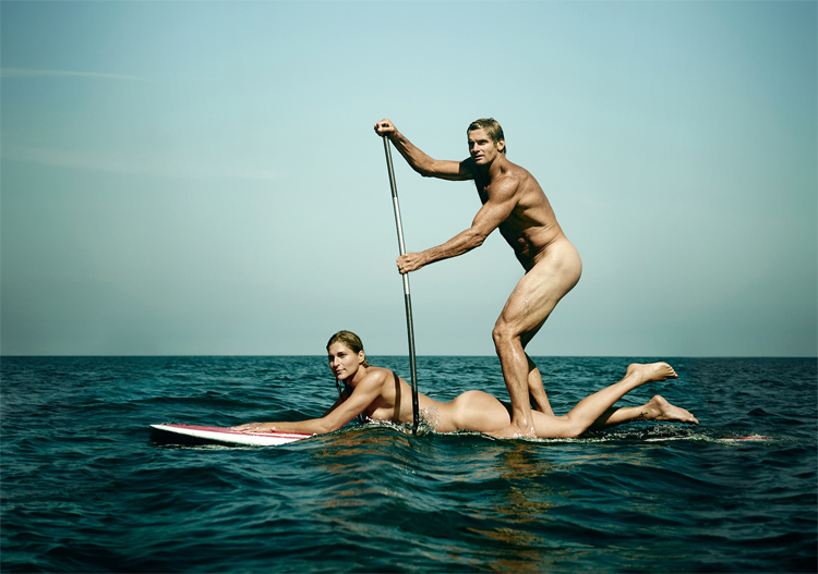 Laird and Gabrielle: the naked photo shoot for the 2015 ESPN Body Issue | Photo: ESPN
