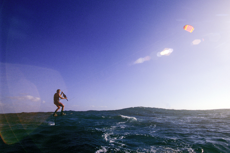 Laird Hamilton: he got one of the early kite prototypes from the Legaignoux brothers | Photo: Legaignoux Archive