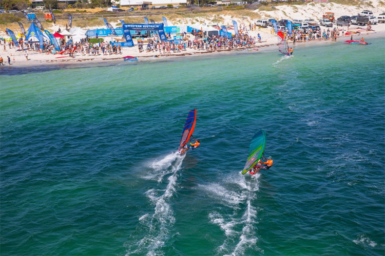 2018 Lancelin Ocean Classic: Alexandre Cousin won the windsurfing marathon | Photo: Carter