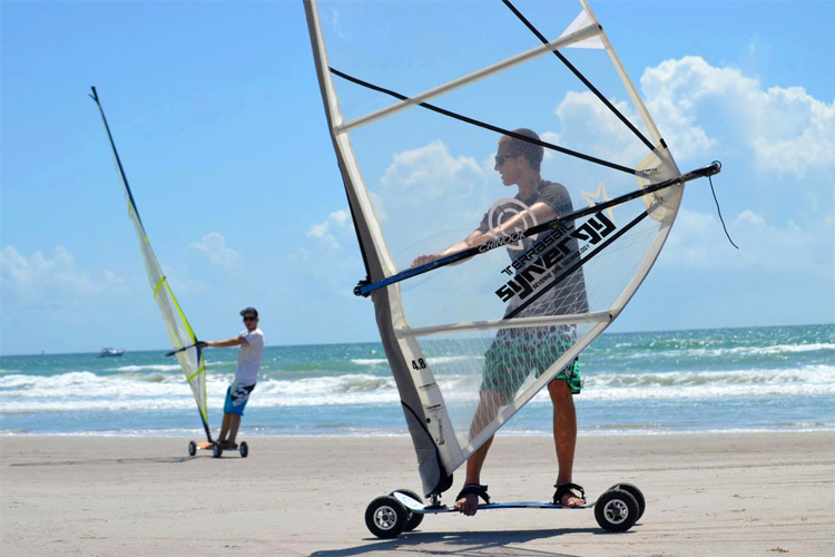 Land windsurfing: the sport of windsurfing, but on dry land | Photo: Terrasail Industries