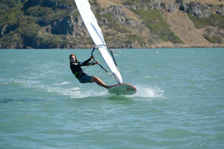 Laurence Carey: he won all races at the 2016 New Zealand Slalom Windsurfing Nationals