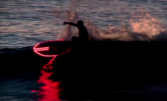 LED surfboards: prepare to take off with flight commander Tiago Pires