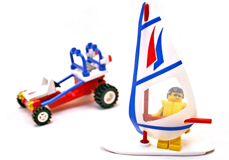 Windsurfing: the first Lego kit was launched in 1992