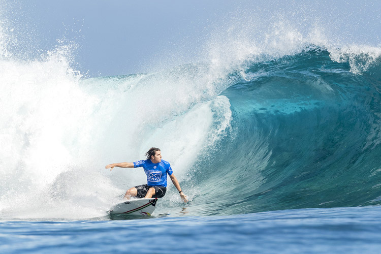 Leonardo Fioravanti: he eliminated Kelly Slater from competition at Cloudbreak | Photo: Cestari/WSL