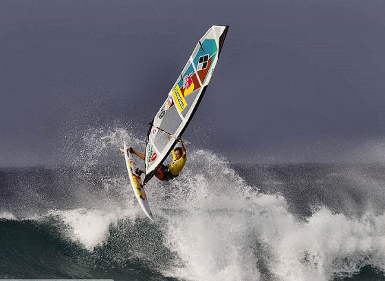 Levi Siver: fired up in Hookipa