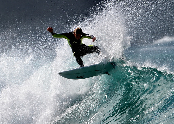Luca Carlisle: there are good surfers in Switzerland