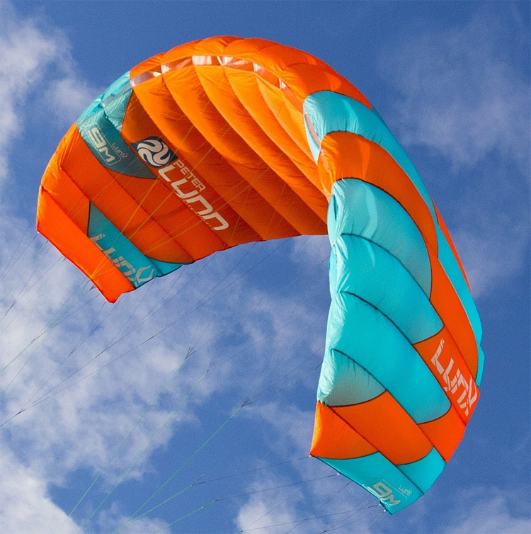Peter Lynn Lynx: a depower foil kite introduced around 2010