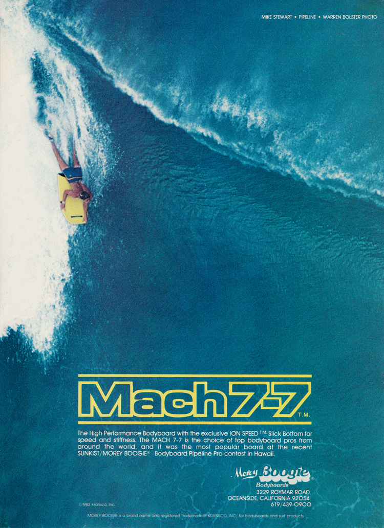 Mach 7-7: a ground-breaking and legendary bodyboard | Ad: Libuse Archive