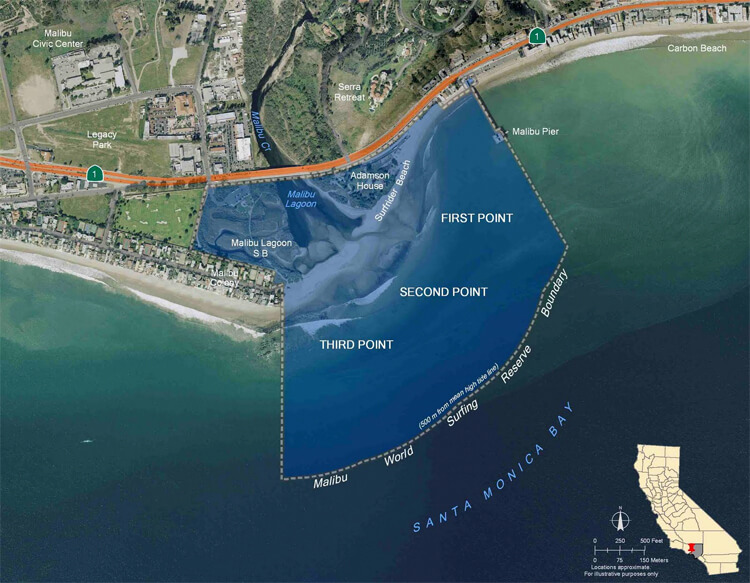Malibu: Surfrider Beach and its Third Point, Second Point, and First Point | Photo: Searls/Creative Commons