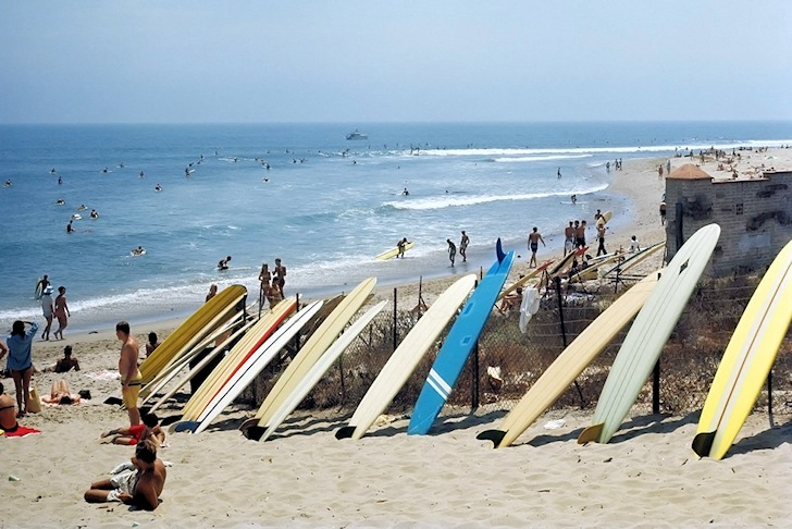 Malibu Beach: surfing through the Californian eye of Leroy Grannis